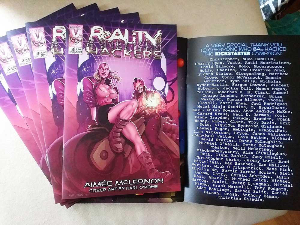 Cyberpunk Comic Reality Hackers Kickstarter Fully Funded 3