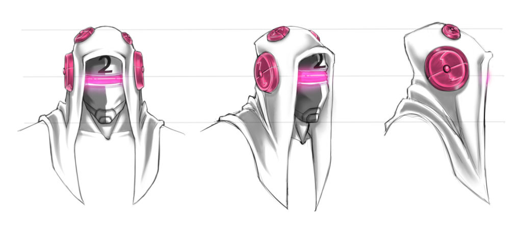 Reality Hackers Concept Art Circuit 2 emotional Territorial Head Turnaround