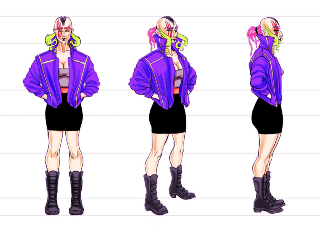 Reality Hackers Concept Art Rube Body Turnaround